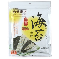 台湾自然素材海苔扁桃仁脆片40g