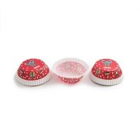 法克曼蛋糕模红色圣诞节50个