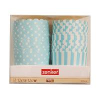 德国法克曼24件装蛋糕纸模(蓝)