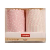 德国法克曼24件装蛋糕纸模(粉)