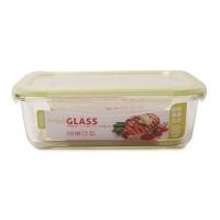 日本FaSola四边扣玻璃保鲜盒1040ml