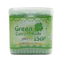 日本ISHIDA纸轴棉棒棉签绿色150支装