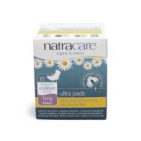 英国进口奈卡Natracare天然棉超薄护翼卫生巾 加长夜用型300mm 10片装