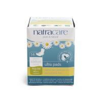 英国进口奈卡Natracare天然棉超薄护翼卫生巾 普通型220mm 14片装