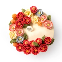 BON CAKE春风的脚步白豆沙蛋糕8寸