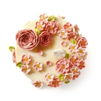 BON CAKE小桃红白豆沙蛋糕8寸