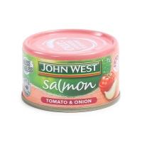 西部约翰番茄洋葱味三文鱼罐头95g