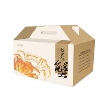 2017年春播阳澄湖大闸蟹福礼盒 母蟹3.3-3.7两4只,公蟹4.3-4.6两4只