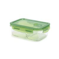 丽芙玻璃饭盒绿色(含隔层)700ml