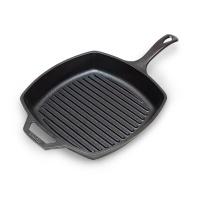 Lodge洛极 美国进口铸铁牛排煎锅 健康无涂层不易粘锅 横纹煎锅