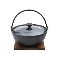 铸味铸铁锅日本锅27CM+玻璃盖